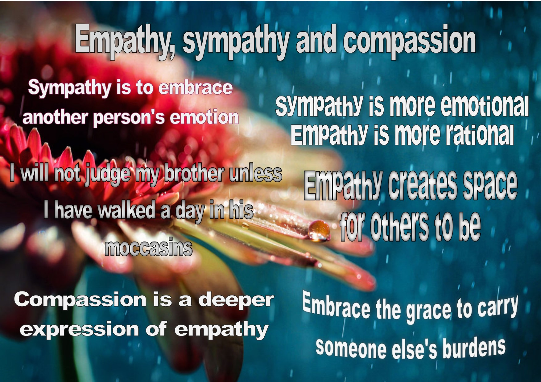compassion and empathy Against empathy: the case for rational compassion and millions of other books are available for instant access kindle | audible enter your mobile number or email address below and we'll send you a link to download the free kindle app.